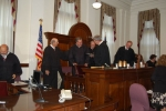 Clay Athey is sworn in as Judge.